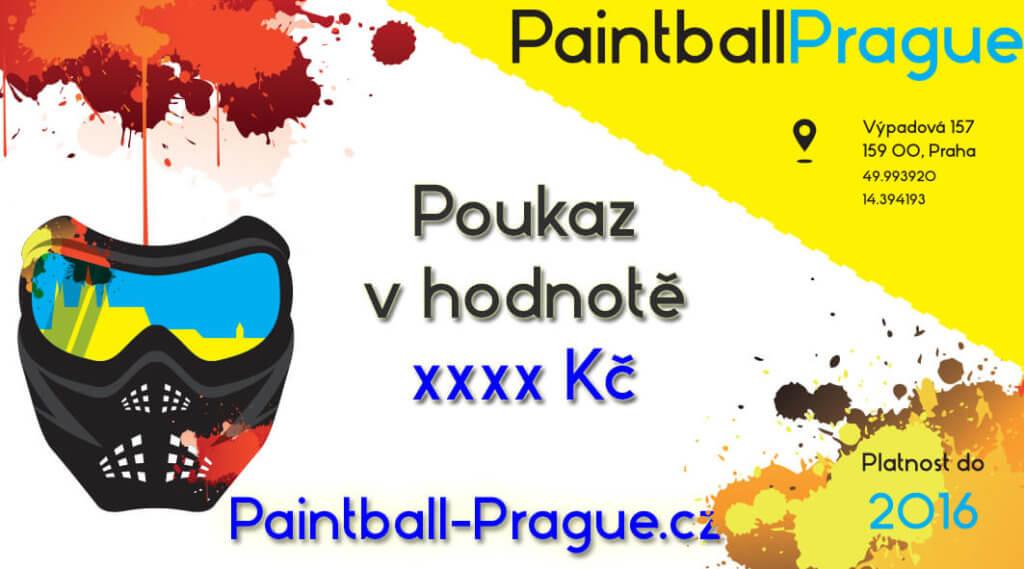 Dárkový poukaz sleva zážitek paintball