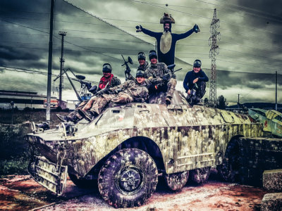 stag party prague bachelor paintball